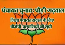 bjp-candidate-list for panchayat electiona