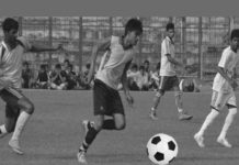 dav pauri students football